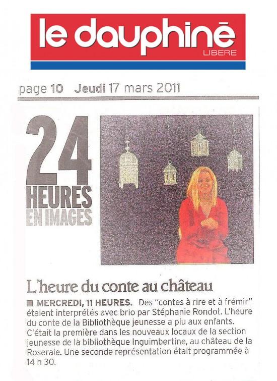 Dauphiné Libéré  17.03.2011